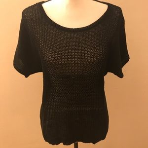 Black Medium Sweater w/ Scoop Neckline